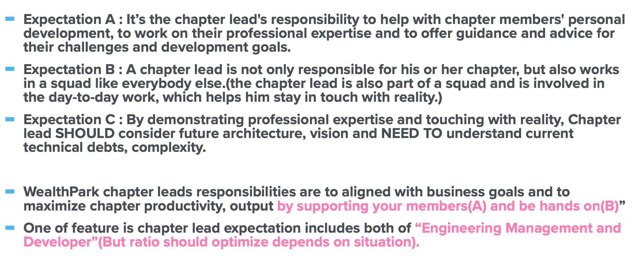 WealthParkが考えるChapter Leadへの期待値